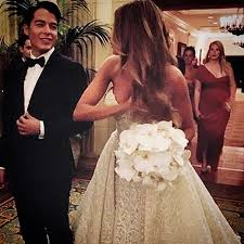 Sofia Vergara Wedding Dress Designer Sofia Vergara Joe Manganiellos Wedding Isa Kriegeskotte