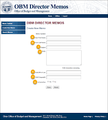 Submitting An Obm Director Memo