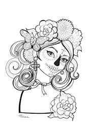 Small Picture Free Day of the Dead Coloring Pages
