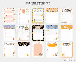 Cute Lists Set Of Weekly Planners And To Do Lists With Cute Summer