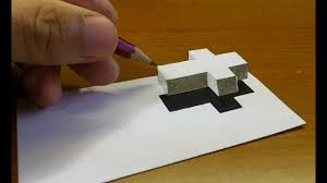 very easy how to draw 3d floating cross 3d trick art on paper step by step