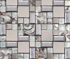 glass mosaic tile backsplash ssmt111 silver metal mosaic stainless steel mosaic tiles sheet stainless steel mosaic