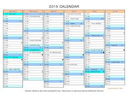 Blank Calendar Excel 2015 Calendar In Excel Free Printable Calendar Templates Chainimage
