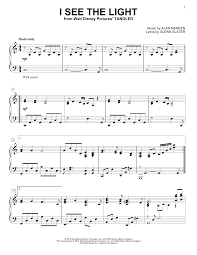 In The Light Sheet Music Alan Menken I See The Light Sheet Music Notes Chords Download Printable Lead Sheet Fake Book Sku 177379