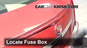 interior fuse box location 2008 2015 cadillac cts 2010 cadillac locate interior fuse box and remove cover