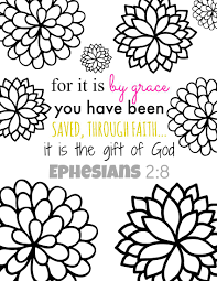 Small Picture For It Is By Grace Bible Verse Coloring Page Printables Free