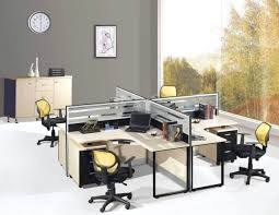 office work tables. Marvelous Modern Interior Design And Simple Work Bench With Computer Glass Barriers Also Medium Closet Office Tables