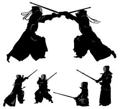 武道シルエット イラストの無料ダウンロードサイトシルエットac