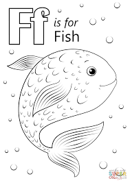 Small Picture Letter F is for Fish coloring page Free Printable Coloring Pages