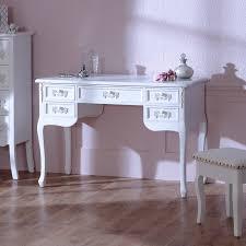 vanity table. Antique White Large 5 Drawer Dressing Table/Writing Desk - Pays Blanc Range Vanity Table D