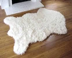 ivory faux fur rug fur area