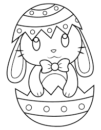 The easter coloring pages celebrate an important symbol of easter, the easter eggs. Printable Easter Bunny In Easter Egg Coloring Page