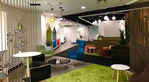 New office designs Innovative Biophilia Playful Elements And Fluid Spaces Form The Basis Of Dubai Electricity And Water Authoritys New Office Designed For Its Young Emirati Workforce Commercial Interior Design Broadway Interiors Designs Dewas New Office Which Promotes Learning