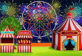 aofoto 5x3ft fairground circus tent