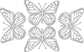 Small Picture Animal Coloring Free Printable Butterfly Wall Stencils Home