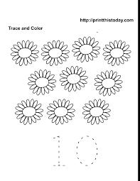 worksheet10a free printable spring flowers math worksheets for preschool on printable kindergarten math worksheets