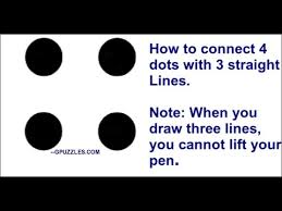 The without crossing the lines was not part of the problem and will be subtracted from my discussion below except for those with designation *. 4 Dots With 3 Straight Lines Mind Teaser Youtube