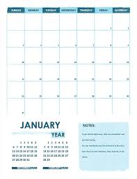 Word Year Calendar Academic Calendar One Month Any Year Sunday Start