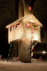 christmas house lighting ideas. christmas treehouse house lighting ideas