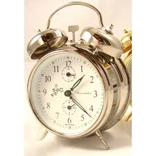 sternreiter double bell alarm clock silver mm 111 602 20