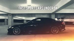 cool cars for under 5k