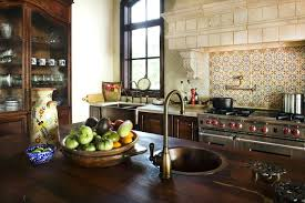 rustic tile kitchen countertops. Simple Kitchen Spanish Tile Kitchen Countertop Fantastic Rustic Wood Is Stainless  Steel Appliances And Copper Sink Pot To Rustic Tile Kitchen Countertops