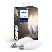 <b>Комплект умных ламп</b> Philips HueW 5.5W B39 E14 - 2 шт белые ...