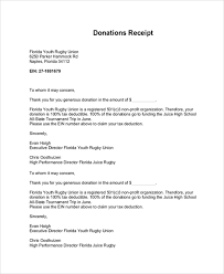 donation reciept letter sample donation receipt letter 7 documents in pdf word