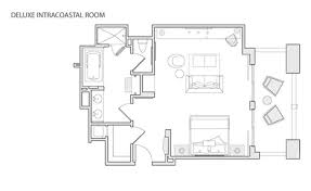 deluxe intracoastal hotel room luxury hotel room layout l84 room