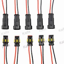 50 sets 2 pin car waterproof electrical connector plug with wire waterproof wire harness at Waterproof Wire Harness