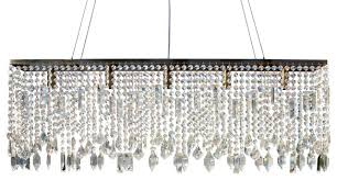 40 sofia glass crystal rectangular chandelier antique brass