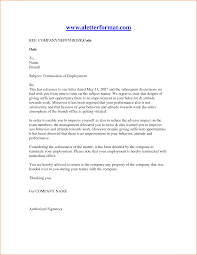 How To Write A Termination Letter To A Company  employee letter     employment termination letter template termination letter sample       how to write a termination