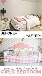 Pink And Grey Girls Bedroom Pink And Gray Girls Bedroom Honeybear Lane