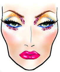 Here Are Looks I Designed Using Blank Mac Face Charts