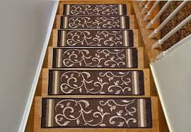 these stair treads feature a thick skid resistant rubber backing to help create a safer