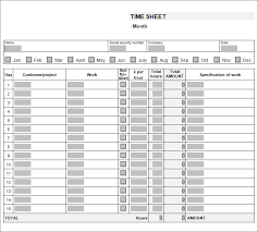Timesheet Template Excel 55 Timesheet Templates Free Sample Example