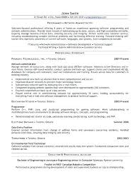 Entry Level Linux System Administrator Resume Sample Spacesheep Co