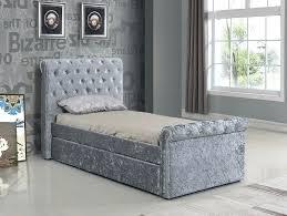 velvet bedding king velvet bed brand new single crushed velvet fabric bed frame silver with trundle