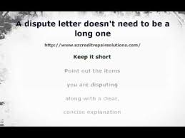 letter of despute tips on writing a dispute letter to a collection agency youtube