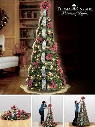 Thomas Kinkade Pre-Lit Pull-Up Christmas Tree