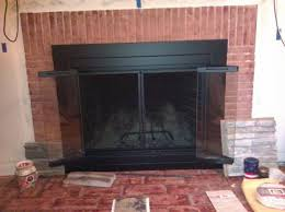 pleasant hearth ascot small glass fireplace doors at 1000 at the