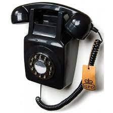 gpo retro 746 wall phone black push