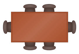 Table Clipart Top View ClipartXtras