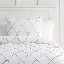 organic textured diamond gray white bedding