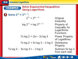 13 solve exponential inequalities using logarithms
