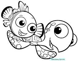 Squirt From Finding Nemo Coloring Page Crush And A Hoofardus