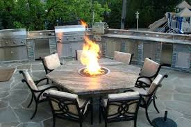 patio table with fire pit built in fire pit dining table marble patio table with fire patio table with fire pit