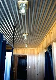 corrugated metal basement wall corrugated metal ceiling garage farmhouse bedroom
