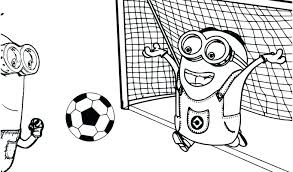 Soccer Coloring Pages For Kids Of Page Minion And Playing Picture