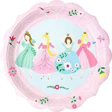 Pink Princess Lunch Plates 12ct Party Supplies | City